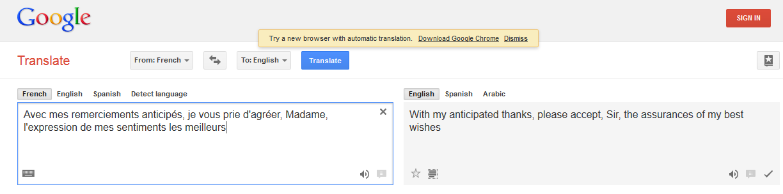 Impudent Strumpet Machine Translation Fail