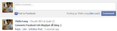 Chèn comment Facebook vào Blogspt
