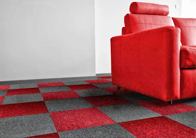 Carpet Tiles Red