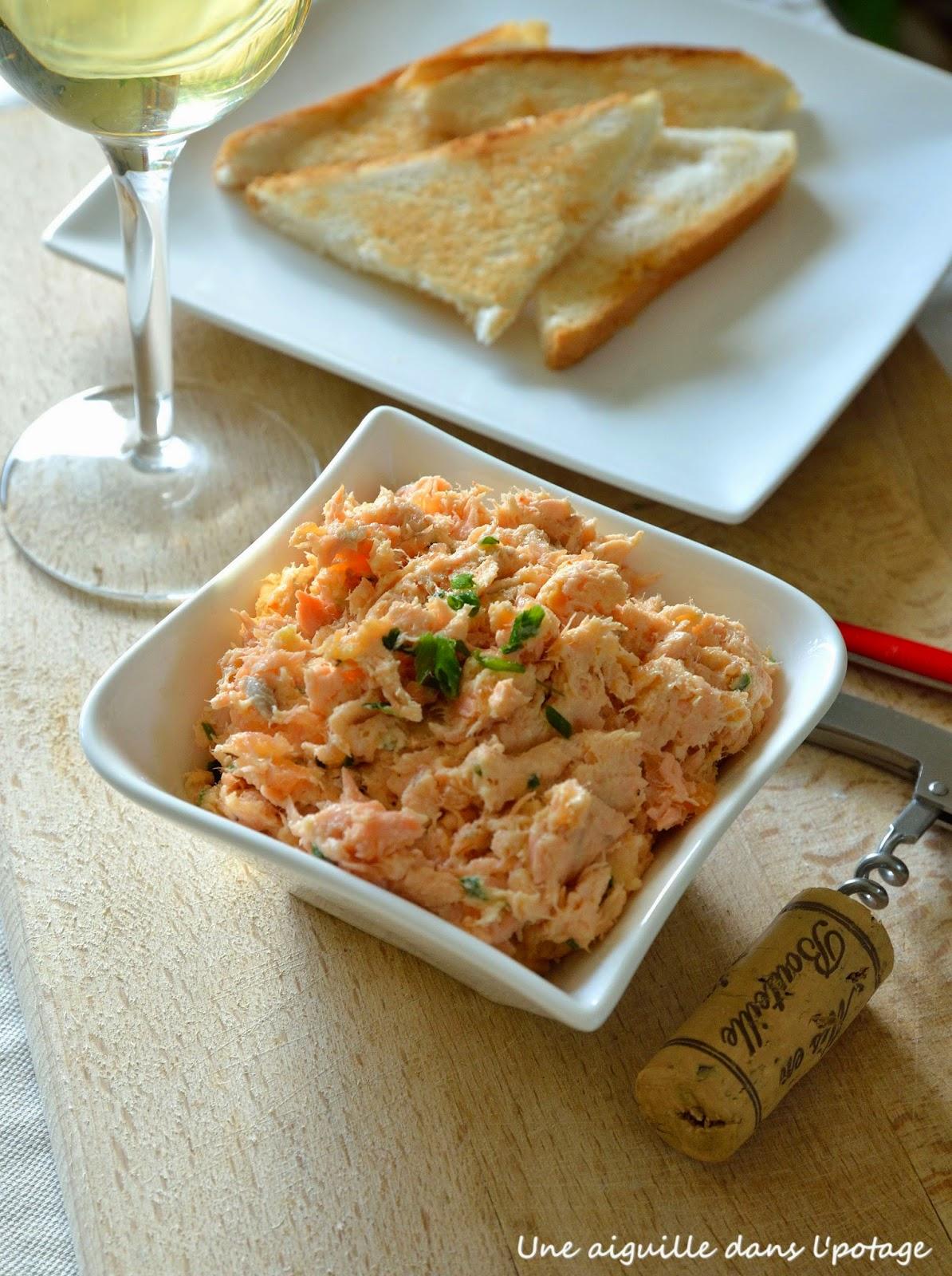 recette de rillettes de poisson