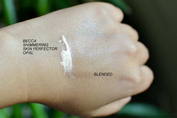 Becca Shimmering Skin Perfector Opal Liquid Highlighter Review Swatch
