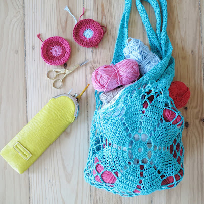 ByHaafner, crochet, vegan crochet hook cosy, Namaste crochet case, yarn bag