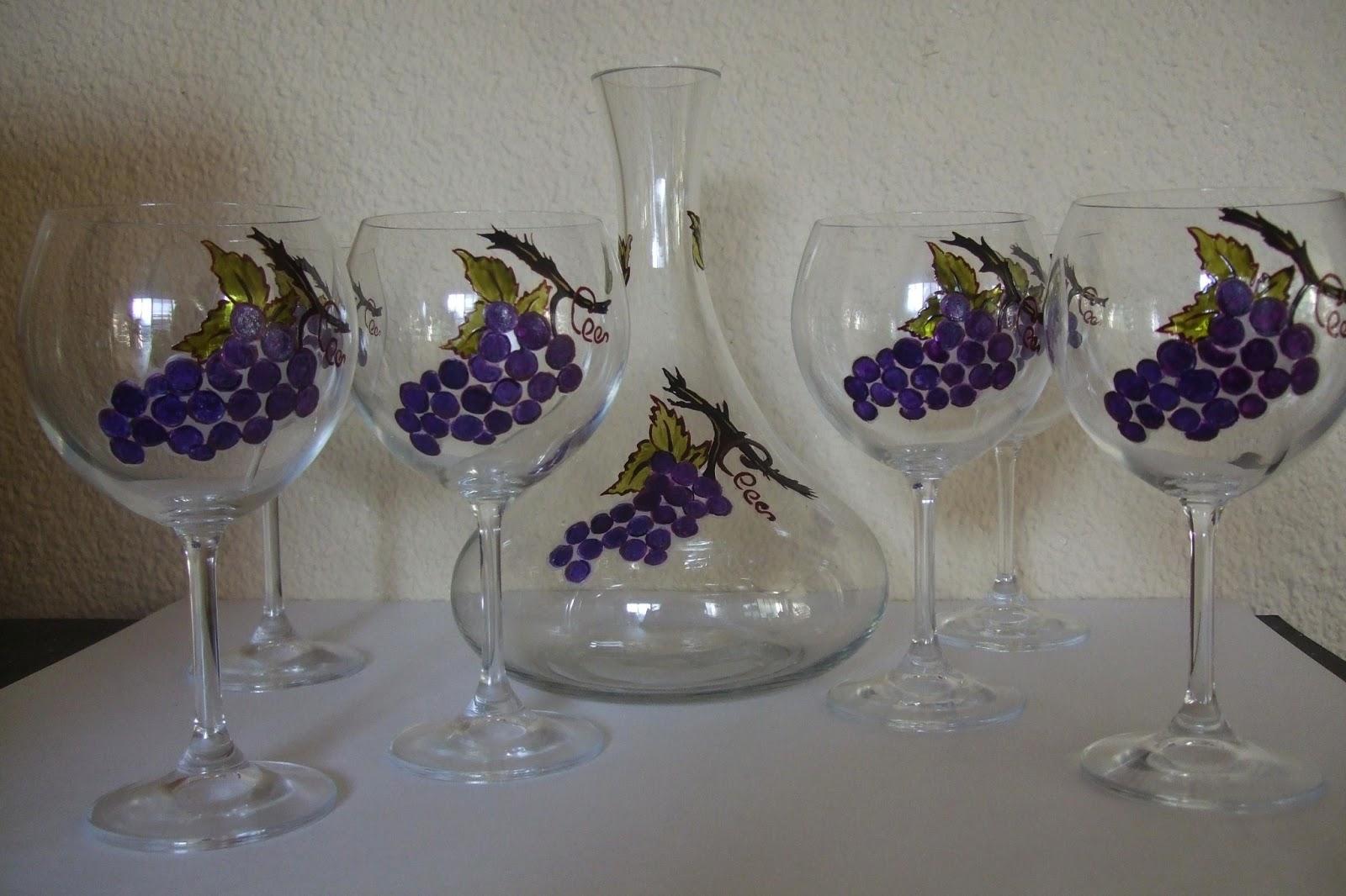 Ma peinture sur verre par ingrid cr ation 6 verres grappe for Enlever peinture sur verre