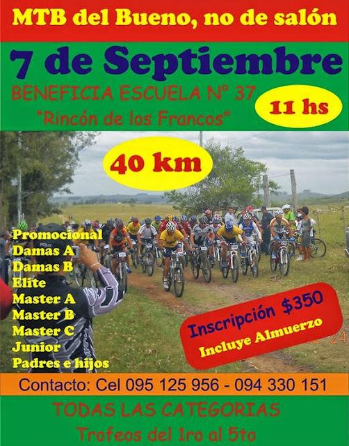 MTB. Rincón de Los Francos (Treinta y tres, 07/sep/2014)