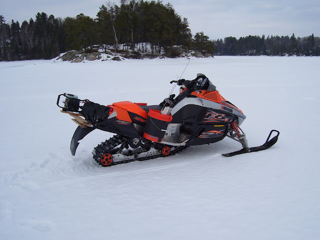 Snowmobile Ice Auger Carrier