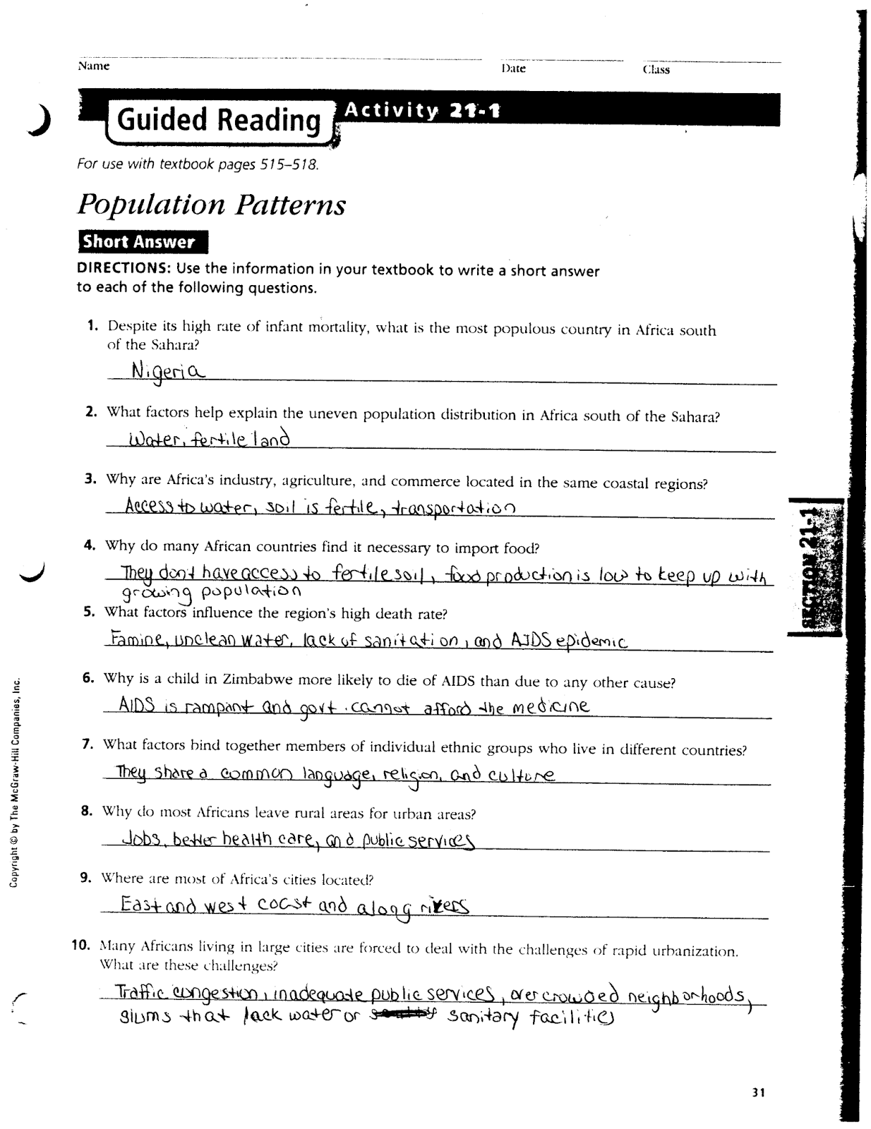 mr e s world geography page world geography chapter 21 the rh acewg blogspot com guided reading activity 21-1 east africa answer key guided reading activity 21-1 us history answer key