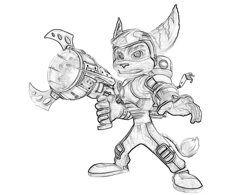 Free Ratchet Y Clank Coloring Pages Ratchet And Clank Coloring Pages