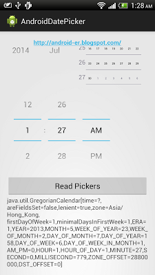 Read DatePicker and TimePicker