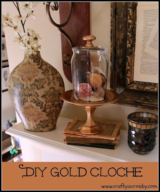 Krylon Metallic, dollar store diy, candlestick diy, bell jar,