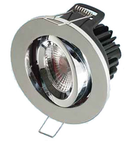 Tilting Brushed Nickel LED COB Reflector Downlight