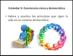 Estándar 5: CONCIENCIA CÍVICA y DEMOCRÁTICA