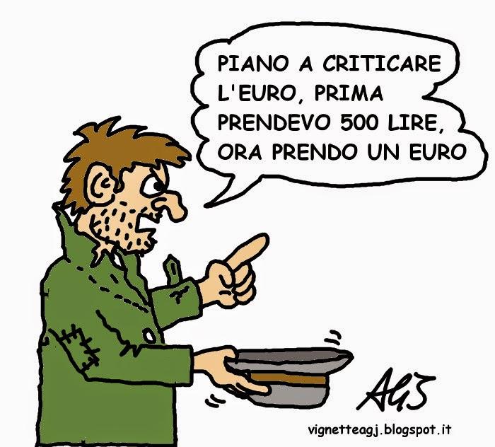 Euro, economia, satira , vignetta