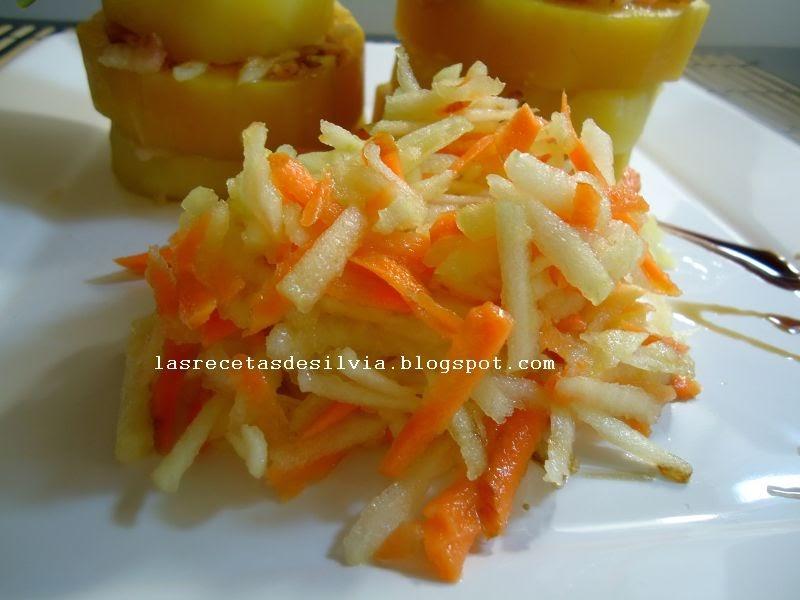 Las recetas de silvia ensalada fresca de manzanas y - Ensalada de zanahorias ...
