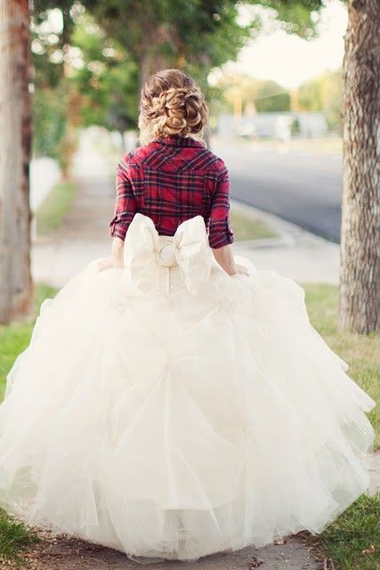 postcards and pretties style lumberjack jill With flannel wedding dress