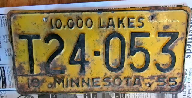 Minnesota License Plate www.organizedclutterqueen.blogspot.com