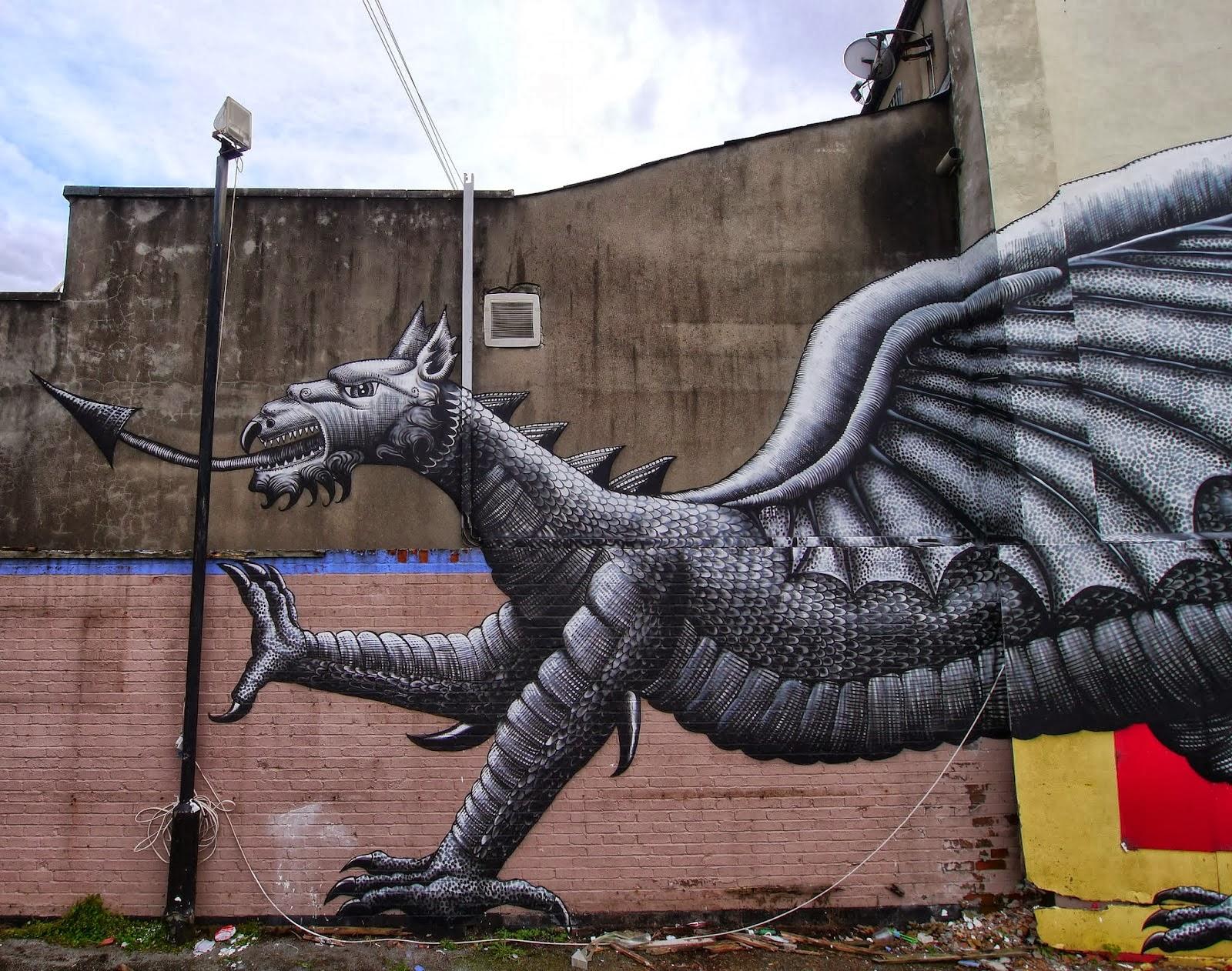 Good Street Art By Phlegm For Empty Walls Urban Art Festival In Cardiff Wales