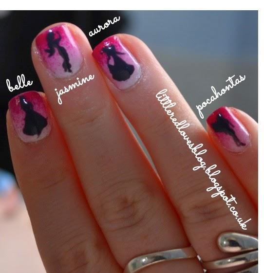 Princess Nail Art: Little Red Loves: Disney Princess Nail Art