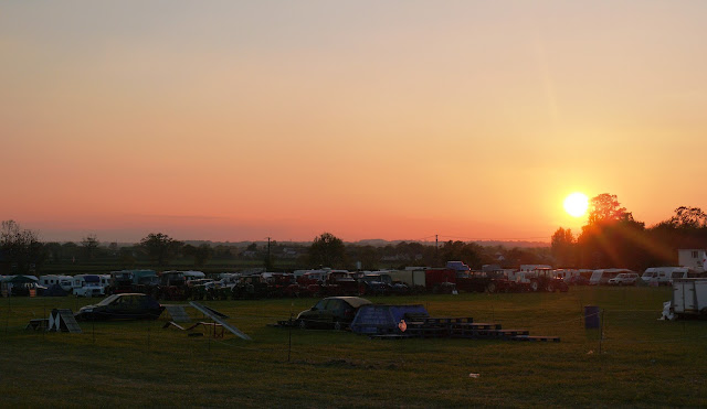 Sunset over Selwood Steam Rally