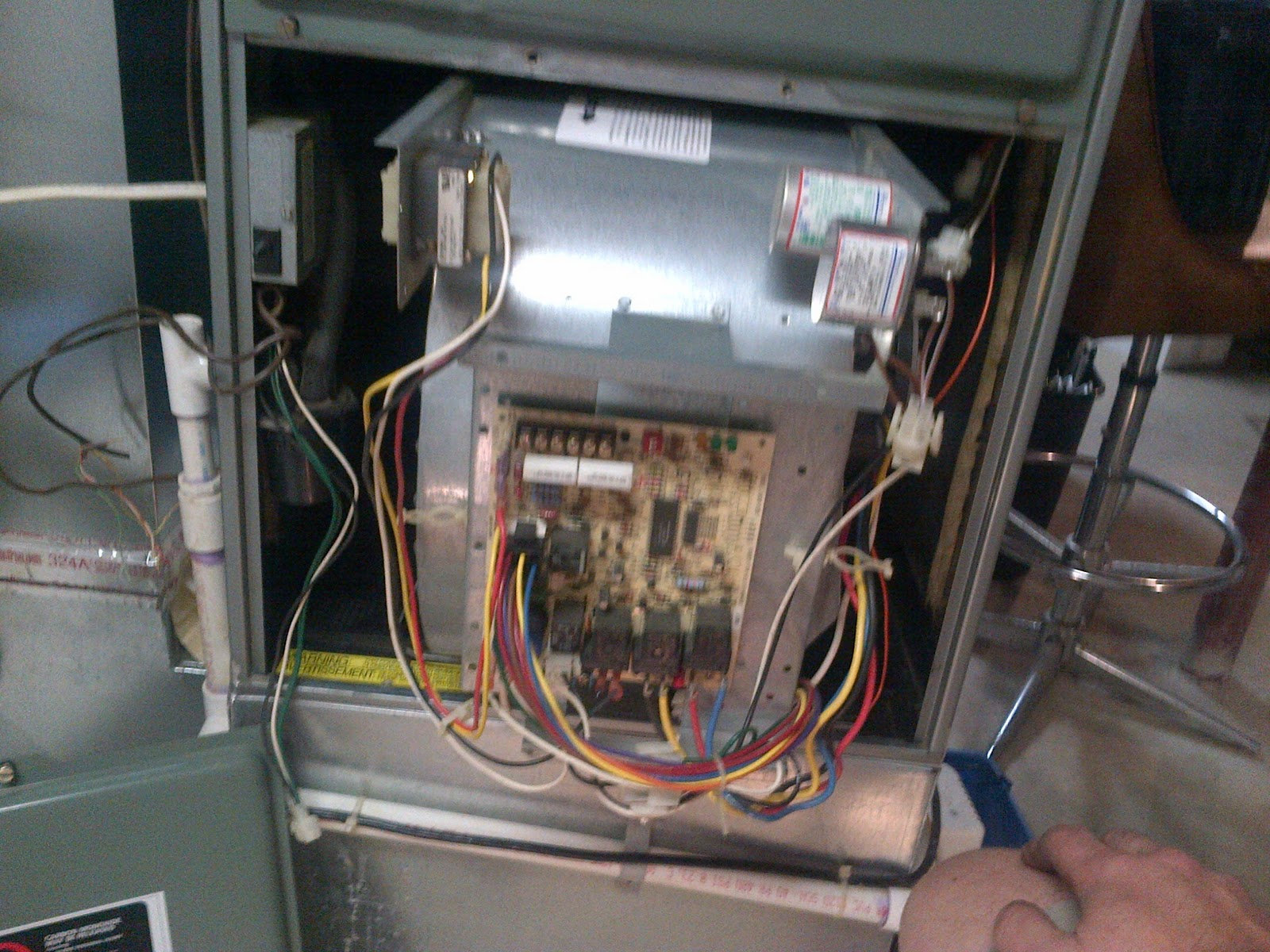 2+installing+the+fan+and+motor+unit cleaning out house hvac (furnace) fan mike's adventures  at mr168.co