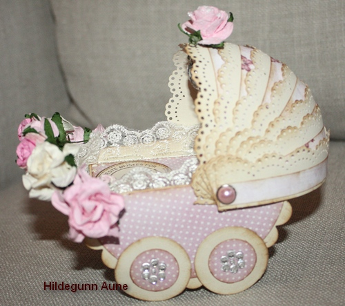 Открытка для новорожденного коляска своими руками