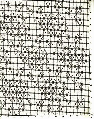 Almofada de crochê gráfico
