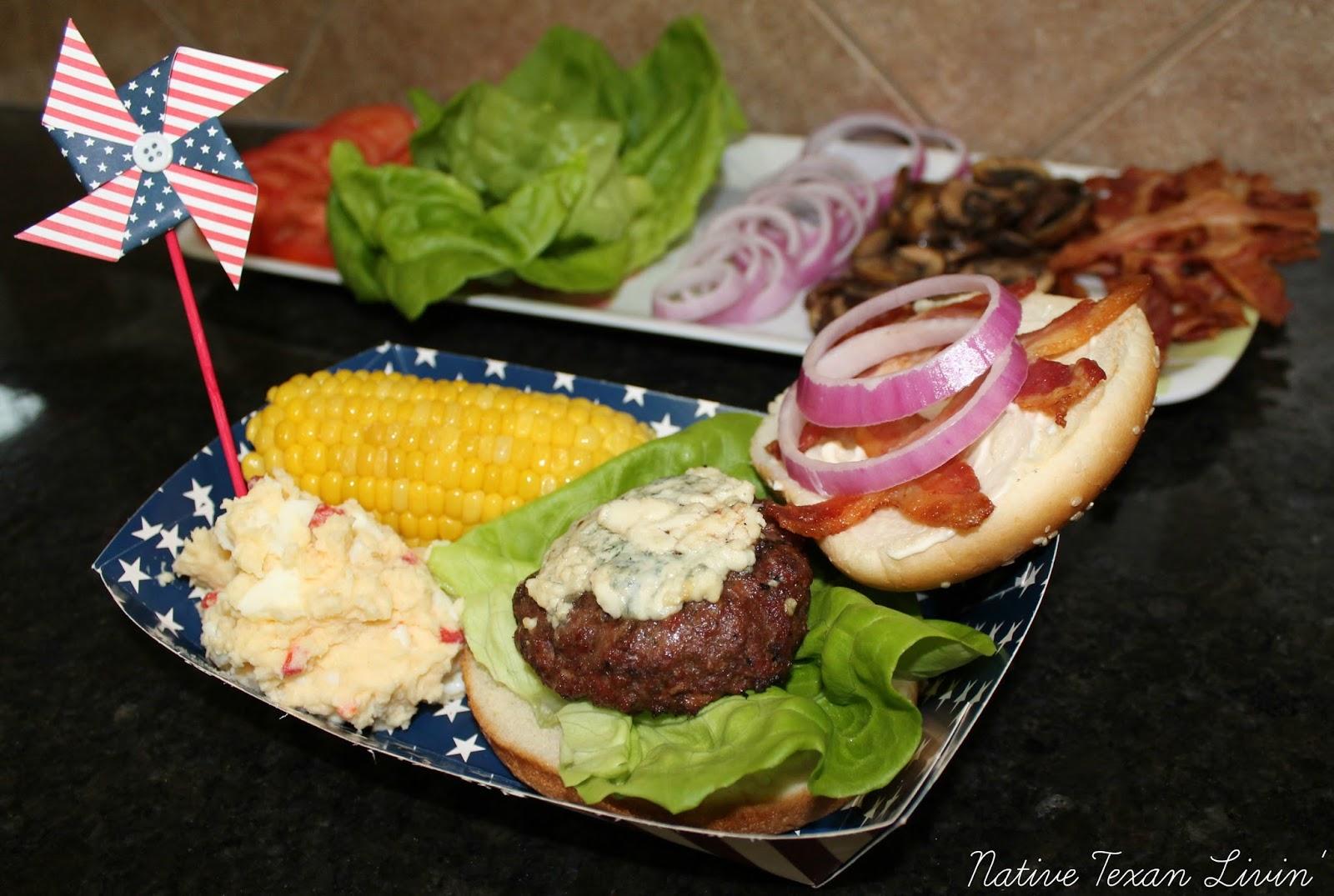 native texan livin u0027 red white u0026 bleu burgers 4th of july grilling
