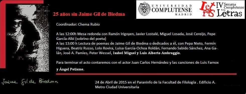 Homenaje a Gil de Biedma en Madrid