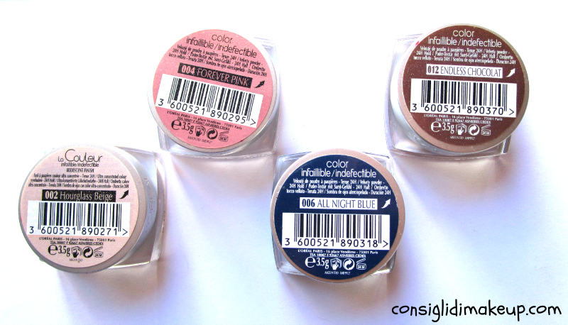 Review: ombretti Color Infaillible - L'Oreal Paris