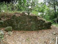 Les restes d'una edificació a prop del mas Bussanya