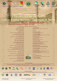 Convegno su Valorizzazione dei Parchi e Riserve in Sicilia. A Taormina, il 2 febbraio
