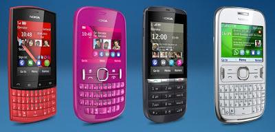 Nokia Asha 200 (Dual SIM) Nokia Asha 300, 303 (QWERTY + Touch Screen ...