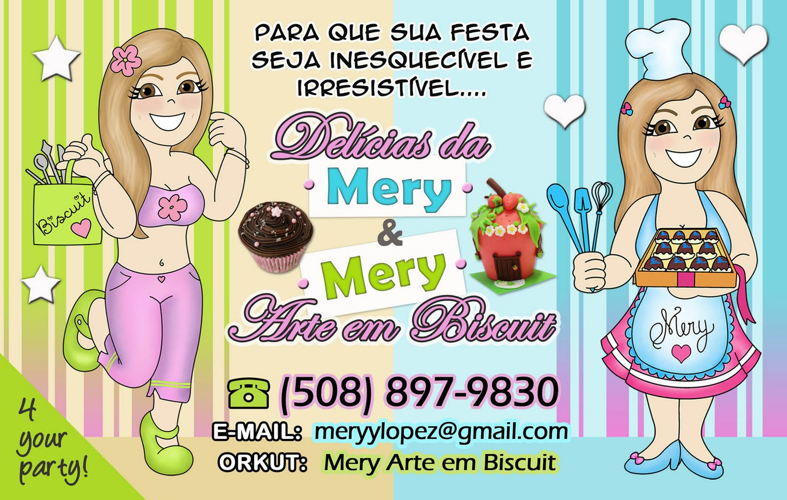 Delícias da Mery & Mery Arte em Biscuit