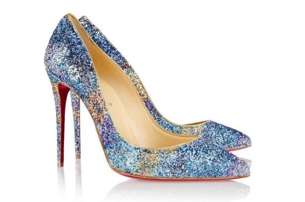 Zapatos con brillos de Louboutin