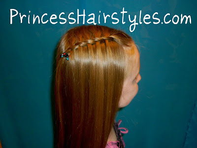 Waterfall french braid with a twist