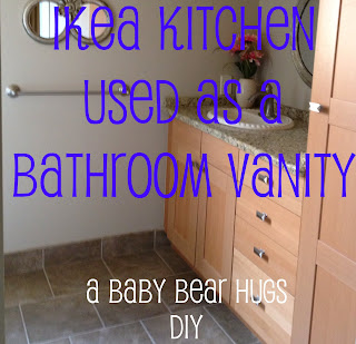 ikea kitchen used as a bathroom vanity