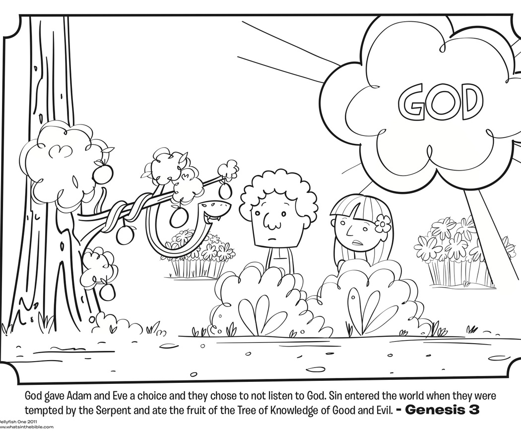 coloring pages garden of eden - photo#4