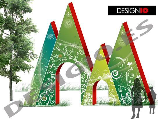 Designio evento de navidad celulosa arauco 2011 for Portico e design del ponte