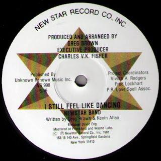 NEWSTAR BAND  -  I Still Feel Like Dancing 12 Inch 1981