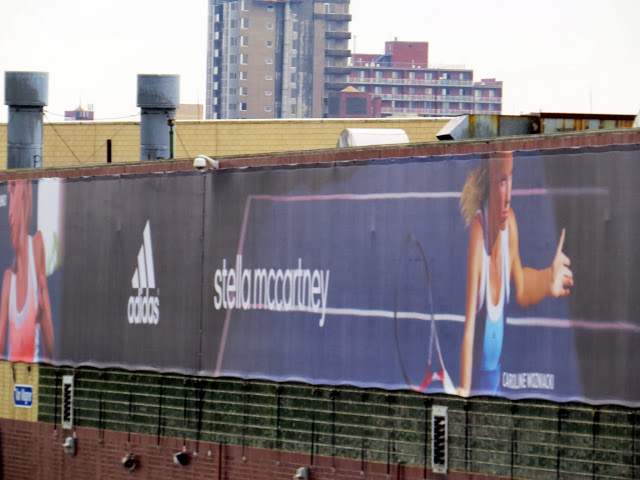 adidas banners outside the Train 7 station