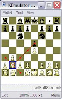 Java MIDlet chess project for s40 s60 phones MChess_KEmulator