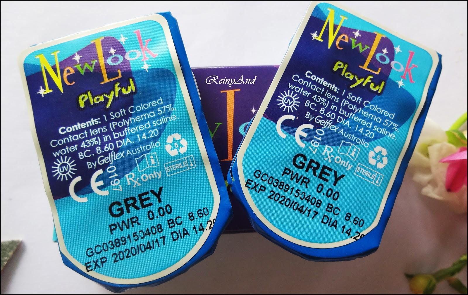 Review New Look Playful In Grey Andianis Beauty Journal Newlook Di Dalam Box Nya Terdapat 1 Pasang Softlens Yang Bungkus Dengan Seal Ini Tidak Dapat Lens Case Hanya Berisi Saja