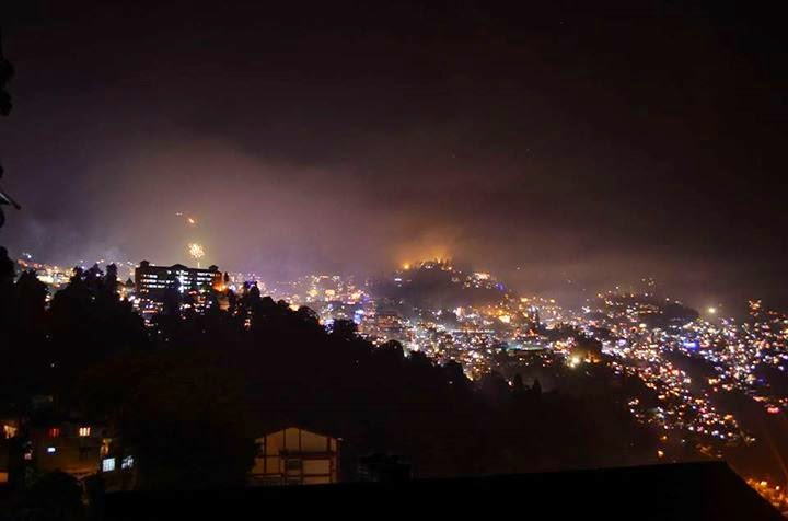 Diwali or Dipawali night in Darjeeling
