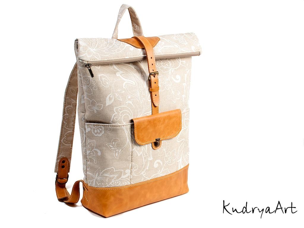 Женский рюкзак. Кожаный рюкзак. Городской рюкзак.