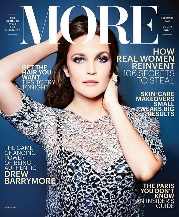Actress, Author, Producer, Director, Model: Drew Barrymore for More Magazine
