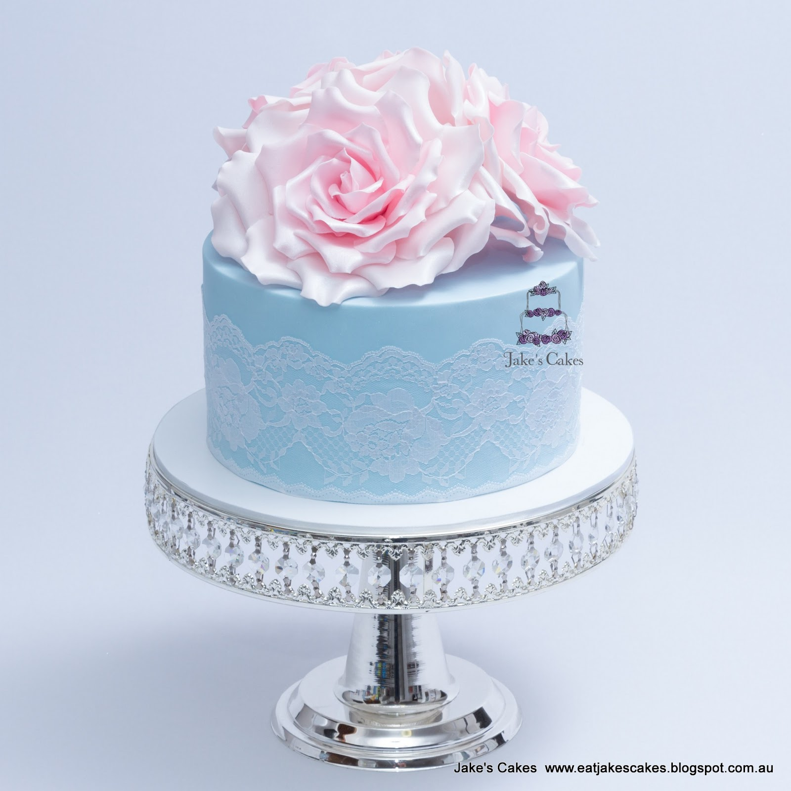 Jakes Cakes Vintage Roses And Lace 21st Birthday Cake