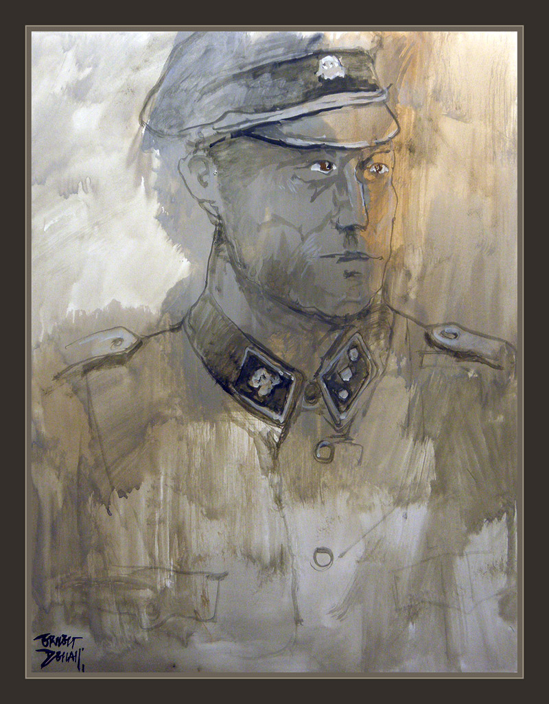 SS-SOLDIERS-GERMAN-WW2-PAINTINGS-ART-III REICH-PAINTER-ERNEST DESCALS-