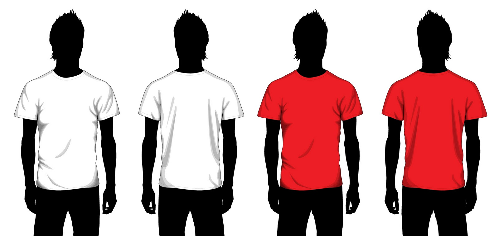 Blank T-Shirt Template for Boys