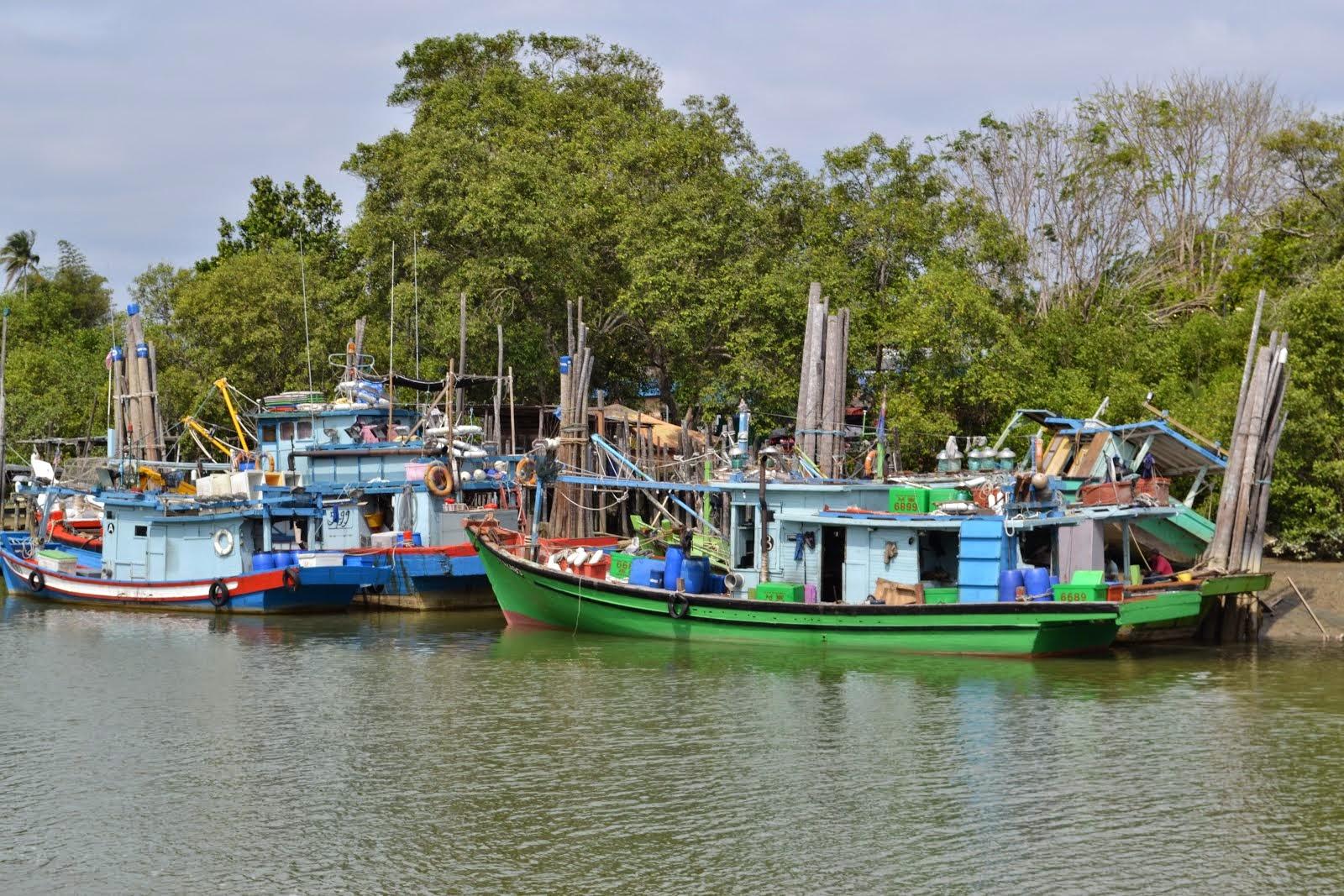 Fishing Boats - Mersing Jetty - Malaysia