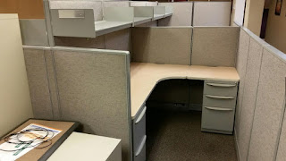 Used Office cubicles by Haworth