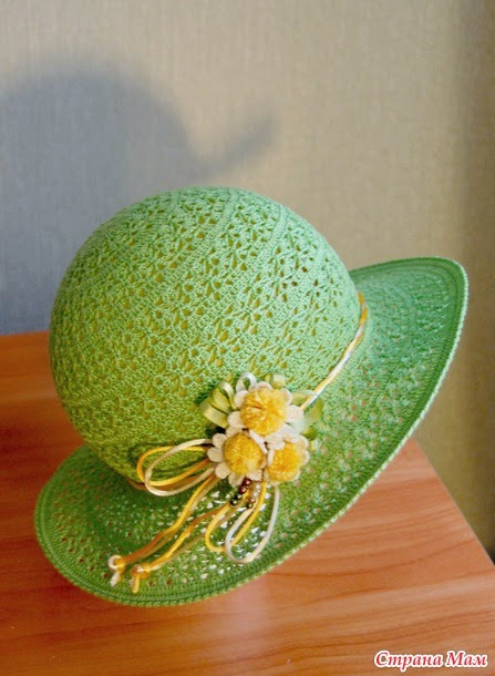 Sombrero elegante para tejer al crochet